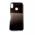 Задняя крышка Huawei Honor 8A глянцевая вставка, двухцветный коричнево-черный