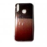 Задняя крышка Huawei Honor 8C глянцевая вставка, двухцветный коричнево-красный