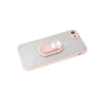 Задняя крышка Xiaomi Redmi 9c матово-прозрачная с защитой камеры, кольцо-подставка, розовый