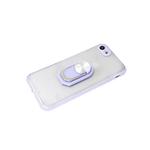 Задняя крышка Xiaomi Redmi 9c матово-прозрачная с защитой камеры, кольцо-подставка, сиреневый