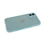 Чехол для Samsung Galaxy A52 матово-прозрачная, силиконовый борт, защита камеры, голубая