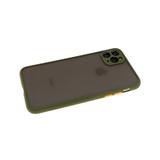 Задняя крышка Xiaomi Redmi 9T матово-прозрачная, силиконовый борт, защита камеры, оливковая