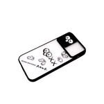 Задняя крышка Xiaomi Redmi 9c матово-прозрачная, свап-камера, KAWS, черный