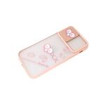 Задняя крышка Huawei Y6 2019/8A матово-прозрачная, свап-камера, KAWS, розовый