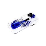 Силиконовый чехол Samsung Galaxy S20 FE матово-прозрачная, защита камеры, синяя бутылка