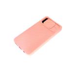 Силиконовый чехол Samsung Galaxy A71 матовый, camera protection ребристый, розовый