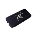 Силиконовый чехол Huawei Honor 9a матовый, глянцево-цветной рисунок, king