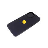 Силиконовый чехол Huawei Y6 2019 Матовый с бархатом внутри, окантовка камеры, с лого, черный