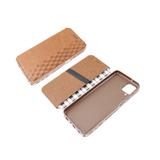 Чехол-книга Samsung A520F Galaxy A5 2017 Новый дизайн, с силиконовым основанием, коричневая