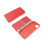 Чехол-книга Samsung Galaxy S20 FE Новый дизайн, с силиконовым основанием, красная
