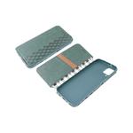 Чехол-книга Samsung Galaxy A31 Новый дизайн, с силиконовым основанием, зеленая