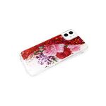 Чехол для Xiaomi Redmi 9a переливашка с картинкой, цветы розовые и красные