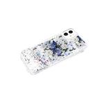 Чехол для Huawei Y6 2019 переливашка с картинкой, цветы синие и белые
