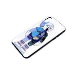 Задняя крышка Xiaomi Redmi 9a пластиковая, черный борт, красочный принт, человек