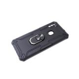 Задняя крышка Xiaomi Redmi Note 9 Pro противоударный трансформер, с кольцом, черная