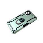 Чехол для Huawei Y6 2019/8A противоударный трансформер, с кольцом, защита камеры, зелёная