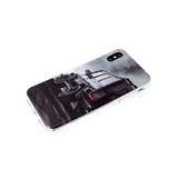 Задняя крышка Xiaomi Redmi 9c прозрачный борт, серия с картинками, внедорожник черный