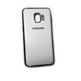 Силиконовый чехол Samsung Galaxy J2 Core с блестящей окантовкой лого, белый