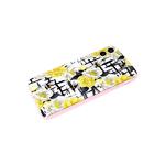 Задняя крышка Xiaomi Redmi 9a с розовой окантовкой, цветы с пчелками
