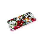 Задняя крышка Xiaomi Redmi 9a с розовой окантовкой, красные цветы в зелени