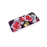 Чехол для Xiaomi Redmi 9a с розовой окантовкой, сердца
