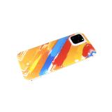 Задняя крышка Xiaomi Redmi 9c силиконовый борт, золотая окантовка, CLASSIC CASE, оранжево-красная