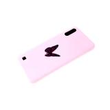 Силиконовый чехол Samsung Galaxy M01 софт-тач, глянцевый рисунок, одна бабочка