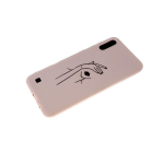 Силиконовый чехол Samsung Galaxy M01 софт-тач, глянцевый рисунок, силуэт руки и губ