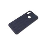 Силиконовый чехол Samsung Galaxy S20 FE текстильное плетение, черный борт, темно-синий
