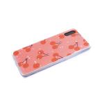 Задняя крышка Xiaomi Redmi Note 9 Pro утолщенный, с блестками-звездочками, черешня на красном