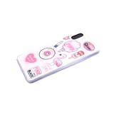 Задняя крышка Huawei Y6 2019 утолщенный, с блестками-звездочками, яркий рисунок, фламинго