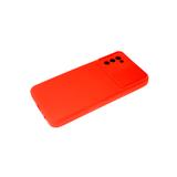 Силиконовый чехол Xiaomi Redmi 9T Бархат внутри, раздвижное окно, красный