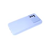 Силиконовый чехол Xiaomi Redmi 9T Бархат внутри, раздвижное окно, светло-фиолетовый