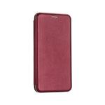 Чехол-книга Fashion Case Xiaomi Redmi 9T с силиконовым основанием и магнитом, бордовый