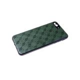 Силиконовый чехол Samsung Galaxy S20 FE черный борт, под кожу, матовый, фактурные узоры, зеленый