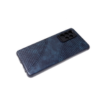 Силиконовый чехол Samsung Galaxy A10 черный борт, под кожу с прострочкой, темно-зеленый