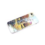 Силиконовый чехол  Samsung Galaxy A72 кошачий глаз, красочный рисунок, золотая осень