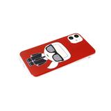 Задняя крышка Xiaomi Redmi 9T красочный принт, прозрачный-силиконовый борт, КАРЛ, красная