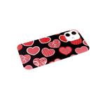 Чехол для Huawei Honor 9X Lite красочный винил, прозрачный борт, красные сердца