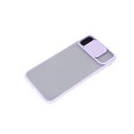 Чехол для Samsung Galaxy A02 2021 матово-прозрачная, ребристая свап-камера, сиреневая