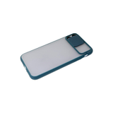 Чехол для Samsung Galaxy A22 2021 матово-прозрачная, ребристая свап-камера, темно-зеленая