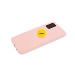 Силиконовый чехол Samsung Galaxy A52 матовый Soft Touch с логотипом, бежевый