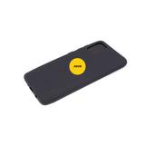 Силиконовый чехол Samsung Galaxy A02s матовый Soft Touch с логотипом, черный