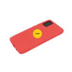 Силиконовый чехол Samsung Galaxy A52 матовый Soft Touch с логотипом, красный