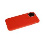 Силиконовый чехол Samsung Galaxy S21 однотонный, soft touch, красный