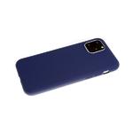 Силиконовый чехол Samsung Galaxy S21 однотонный, soft touch, темно-синий