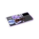Силиконовый чехол Samsung Galaxy A02 2021 прозрачный с рисунком, цветной борт, Follow