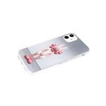 Задняя крышка Samsung Galaxy A32 4G прозр. силиконовый борт, глянц. рисунок, розовый человек Х