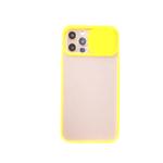 Силиконовый чехол REALM со слайд-камерой, в упаковке для iPhone 7/8/SE2 жёлтый