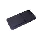 Силиконовый чехол Samsung Galaxy A02s софт тач с визитницей, черный